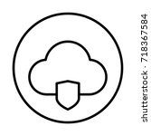 cloud security icon | Shutterstock .eps vector #718367584