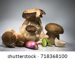 fresh healthy happy family of... | Shutterstock . vector #718368100