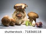 fresh healthy happy family of... | Shutterstock . vector #718368118