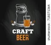 beer menu logo or emblem...   Shutterstock .eps vector #718371364