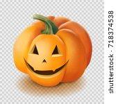 realistic vector halloween... | Shutterstock .eps vector #718374538