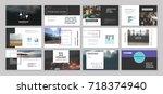 original presentation templates.... | Shutterstock .eps vector #718374940