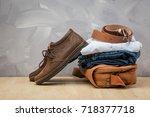 asian vintage style men... | Shutterstock . vector #718377718