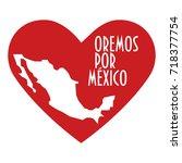 pray for mexico illustration....   Shutterstock .eps vector #718377754