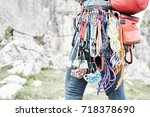 Close Up Of Mountaineer With...