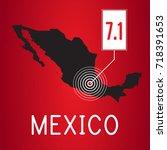 mexico earthquake | Shutterstock . vector #718391653