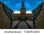 st. petersburg. sphinx on the... | Shutterstock . vector #718392304