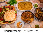 delicious looking iftar | Shutterstock . vector #718394224