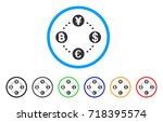 financial circular relations... | Shutterstock .eps vector #718395574