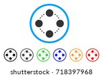 circular relations rounded icon.... | Shutterstock .eps vector #718397968