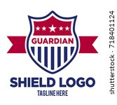 patriot logo vector template | Shutterstock .eps vector #718401124