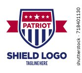 shield logo template | Shutterstock .eps vector #718401130