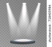 round podium  pedestal or... | Shutterstock .eps vector #718405984