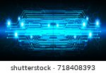 binary circuit future... | Shutterstock .eps vector #718408393