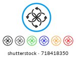 knot rotation rounded icon.... | Shutterstock .eps vector #718418350