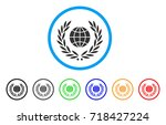 global emblem rounded icon.... | Shutterstock .eps vector #718427224