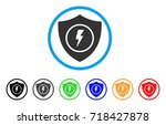electric guard rounded icon.... | Shutterstock .eps vector #718427878