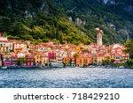 lake como  varenna  italy.... | Shutterstock . vector #718429210