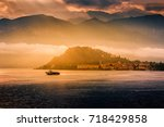lake como  belaggio  italy.... | Shutterstock . vector #718429858