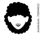 beautiful woman head avatar... | Shutterstock .eps vector #718434013