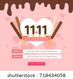 love day event | Shutterstock .eps vector #718434058