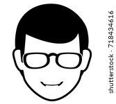 young man head avatar character | Shutterstock .eps vector #718434616