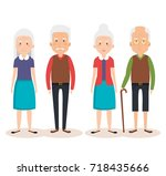 grandparents group avatars... | Shutterstock .eps vector #718435666