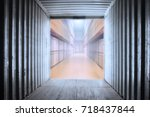 abstract empty in side... | Shutterstock . vector #718437844