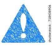 grunge warning icon with grunge ...
