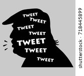 donald trump tweets. vector... | Shutterstock .eps vector #718445899
