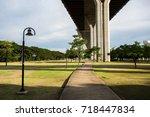 bhumiphol bridge crossing... | Shutterstock . vector #718447834