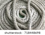 close up old nylon ropes | Shutterstock . vector #718448698