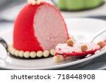 cute mousse cake | Shutterstock . vector #718448908