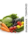 vegetable set | Shutterstock . vector #718449433