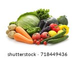 vegetable set | Shutterstock . vector #718449436