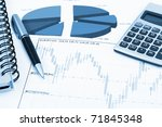financial charts and graphs on...   Shutterstock . vector #71845348