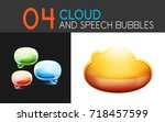 cloud and speech bubble icon...