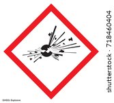 dangerous icon of hazardous... | Shutterstock .eps vector #718460404
