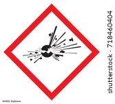 hazardous warning. warning sign.... | Shutterstock .eps vector #718460404