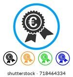 european guarantee seal icon.... | Shutterstock .eps vector #718464334