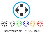 circular relations rounded icon.... | Shutterstock .eps vector #718464508