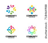community logo vector art | Shutterstock .eps vector #718464988