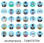 avatars characters people of... | Shutterstock .eps vector #718473754