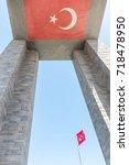 canakkale martyrs' memorial is...   Shutterstock . vector #718478950