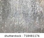background texture old aluminium | Shutterstock . vector #718481176