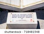 an information plate at...   Shutterstock . vector #718481548