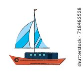 ship with sails icon image | Shutterstock .eps vector #718483528