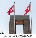 canakkale martyrs' memorial is...   Shutterstock . vector #718485430