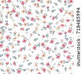 cute floral pattern of small...   Shutterstock .eps vector #718485994
