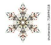snowflake on a white background....   Shutterstock .eps vector #718494118